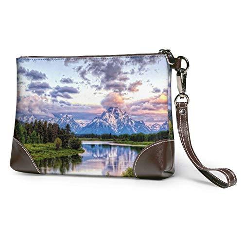 XCNGG Paysage National Park imprimé pochette sac à main amovible en cuir bracelet portefeuille sac femmes sac à main