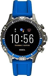 Fossil Garrett HR- Gen 5 Smartwatch con cinturino in silicone blu da uomo FTW4042
