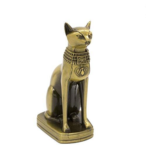 Metal Bastet Statue, De Egyptische God Van De Kat Beeldje Beeldhouwwerk Van Het Metaal Home Desk Office Decoration Gift