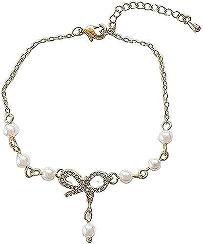 BEISUOSIBYW Co.,Ltd Regalos de Collar Pulsera de Lazo Virgen de Moda Pulsera de Cuentas Dulce Ajustable Accesorios de Diamantes para Estudiantes Cuerdas Regalo Niñas Niños Collar