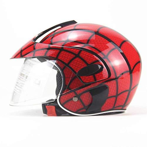 Generic Brands Kinder Reithelm Spider Web Boy Mädchen Motorrad Reiten Fahrrad Roller Outdoor Sports Vier-Jahreszeiten-Helm 48-52cm
