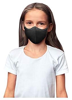 Bloch unisex child Soft Stretch Reusable  Pack of 3  Black Kids Face Mask Black Kids US