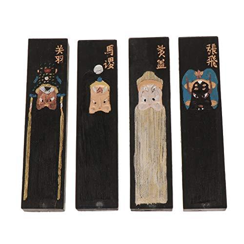perfeclan Paquete de 4 Barras de Tinta Negra para Dibujo Chino Y Artes Caligráficas