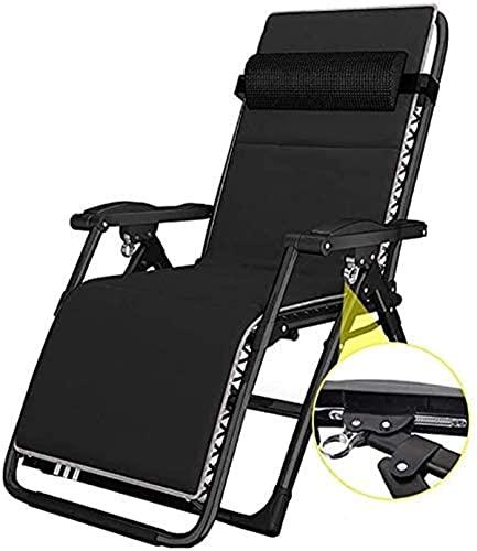 FHISD Sillas de salón clásicas Tumbona/Plegable Comfort Sling Chair Reclinable Zero Gravity con reposacabezas, Camping al Aire Libre Viajes Playa Jardín Silla de Pesca Tumbonas, Tumbona