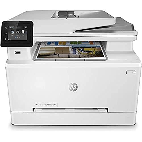 HP Color LaserJet Pro M283fdn Multifunktions-Farblaserdrucker (Drucker, Scanner, Kopierer, Fax, LAN, Duplex, Airprint) weiß