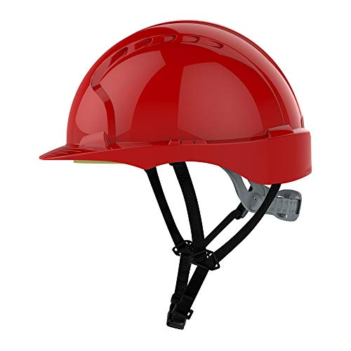 JSP AJG250–000–600EVO3Linesman slip Ratchet Helmet, rosso