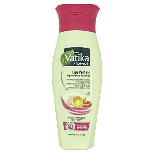 THREE PACKS of Dabur Vatika Egg Protein Rejuvenating Shampoo 200ml
