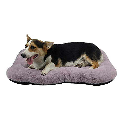 """Dog Bed Mat Soft Crate Pad,Dog Crate Bed Cushion31""""/36""""/40"""" Washable Mattress Anti-Slip Pet Kennel Pad for Medium Large XL Dogs and Cats,Purple Blue Beds"""