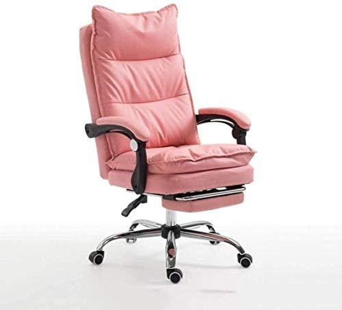 PANGPANGDEDIAN Sedia da Ufficio Sedia da Ufficio Sedia da scrivania orientabile in Sedia da Ufficio con braccioli Sedia ergonomica da scrivania Lombare Poltrona (Color : Pink, Size : with footrest)