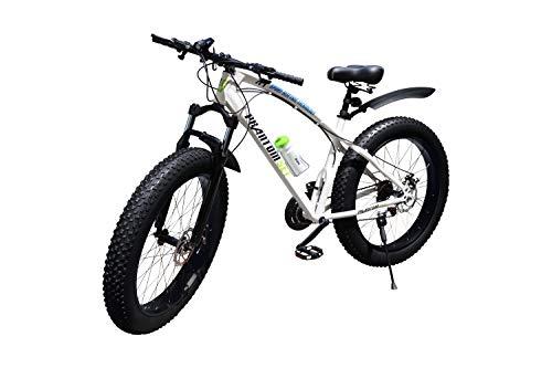 Phantom Set Fat Bike 26 Zoll 21 Gang Shimano Fat Mountain Bike L Bianco
