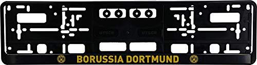Borussia Dortmund BVB Kennzeichenverstärker/Nummernschildhalter ** Emblem mit Schriftzug ** 2er-Set