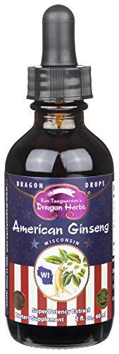 Dragon Herbs American Ginseng Drops - 2 fl Ounces, 60 ml