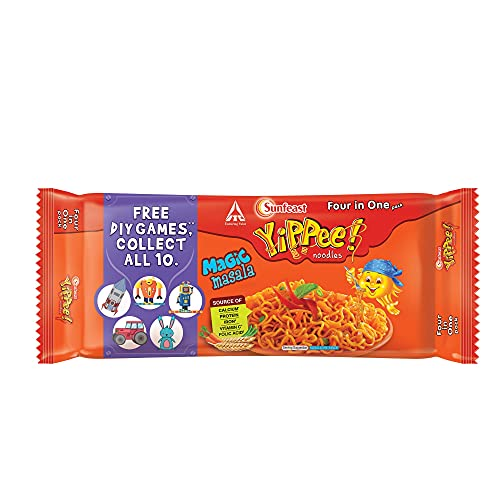 Yippee Sunfeast Noodles, Magic Masala, 240 g, 4 in One Pack