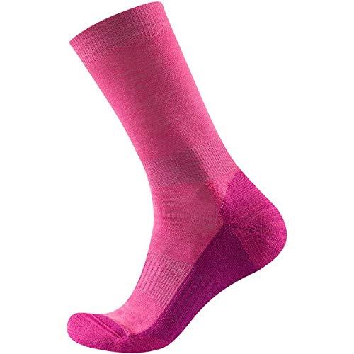 Devold Frauen Multi MEDIUM Woman Socken, Kirschrot, 35