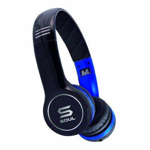 Soul by Ludacris SL100 Ultra Dynamische On-Ear-Kopfhörer schwarz/blau