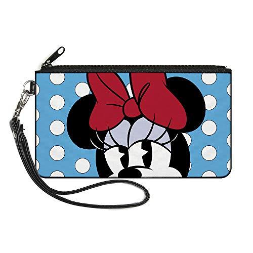Buckle-Down Damen Geldbörse mit Reißverschluss, Minnie Mouse, klein, Mehrfarbig, 16,5 x 8,9 cm