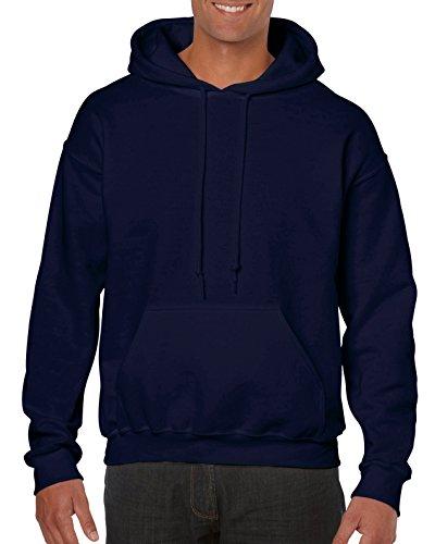 Gildan Men's Heavy Blend Fleece Hooded Sweatshirt G18500, Navy, Large