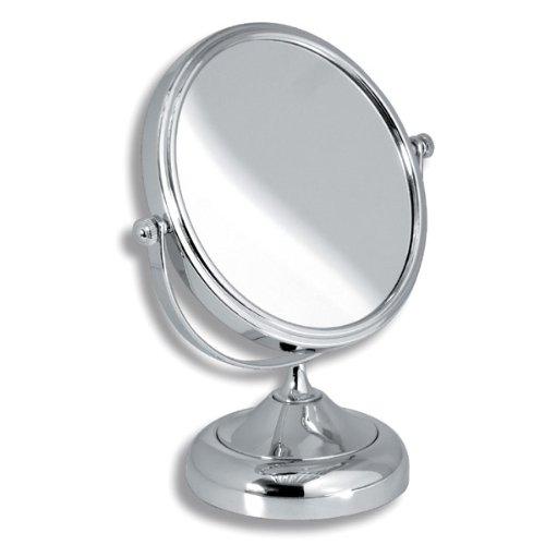 Exclusiver Designer - Badspiegel-Hotelprogramm-Standtischspiegel-Kosmetikspiegel-Chromausführung glänzend-Ferro