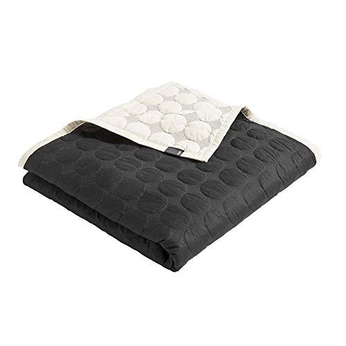Mega Dot Decke 235x245cm, schwarz creme Baumwolle Füllung Polyester LxB 245x235cm