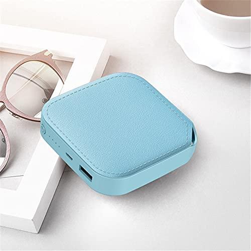 rongshengxinye Mobile Power Mini Power Bank 10000 mAh Cargador portátil Powerbank Batería externa Poverbank 10000 mAh para Xiaomi Mi iPhone 12 Power Bank (color azul con cordón)