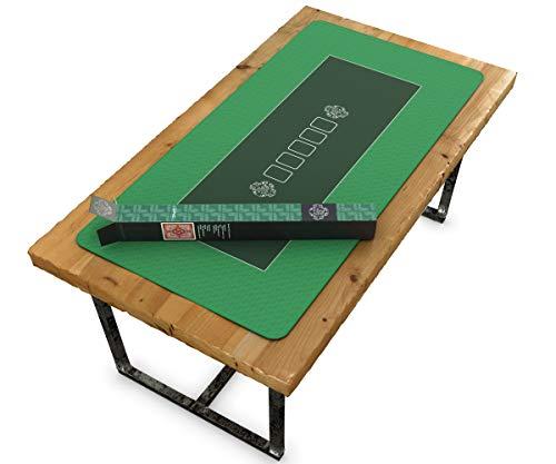 Bullets Playing Cards Profi Pokermatte grün in 160 x 80cm eigenen Pokertisch – Deluxe Pokertuch – Pokerteppich – Pokertischauflage – ideal als Geschenk - 2