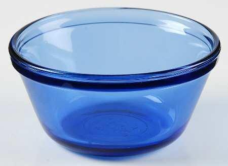 Anchor Hocking Cobalt Blue Glass Mixing Batter Bowl (1 Quart)