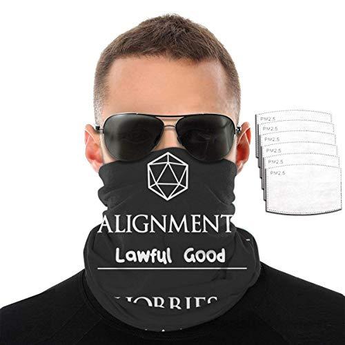 SVDziAeo Asuntos legales Niñas Niños Protección Facial Bandanas Arnés para el Cuello Polaina Pasamontañas con 6 filtros