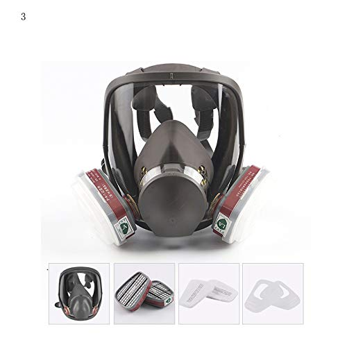 Myonly Anti-Fog-Halbmaske Gasmaske, Selbstansaugende Filtergasmaske Helm Vollgesichtsmaske