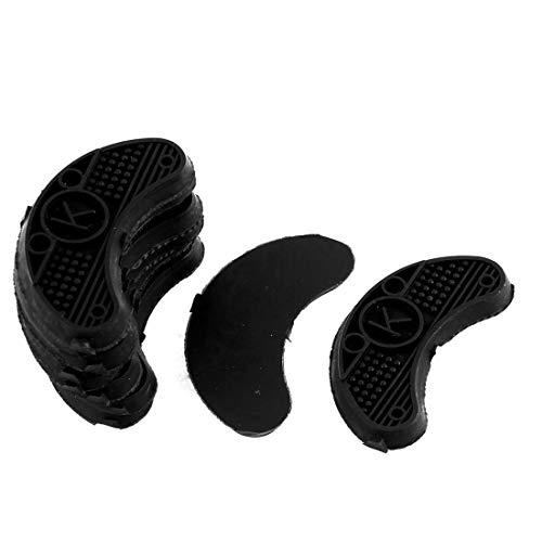 TOMYEER rutschfeste Gummischuhe Fersen Sohlenschutzplatten Taps 10 Stück schwarz