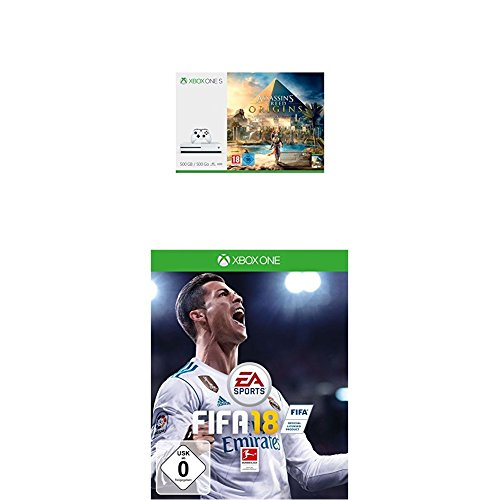 Xbox One S 500GB Konsole - Assassins's Creed Origins Bundle + FIFA 18