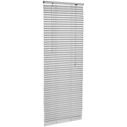 Amazon Basics - Persiana veneciana de aluminio, 50 x 130 cm, Plateado