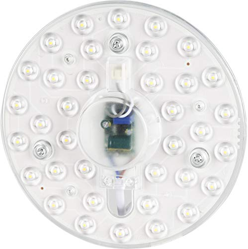 Módulo LED 230 V – 18 W 1800 lm – Kit de conversión con soporte magnético – para lámpara de techo – luz blanca cálida (3000 K)
