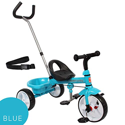 Buy Tricycle Trike Kids Trike, Baby Infant Ride-On Pedal Bicycle, Adjustable Push Handle Convertible...