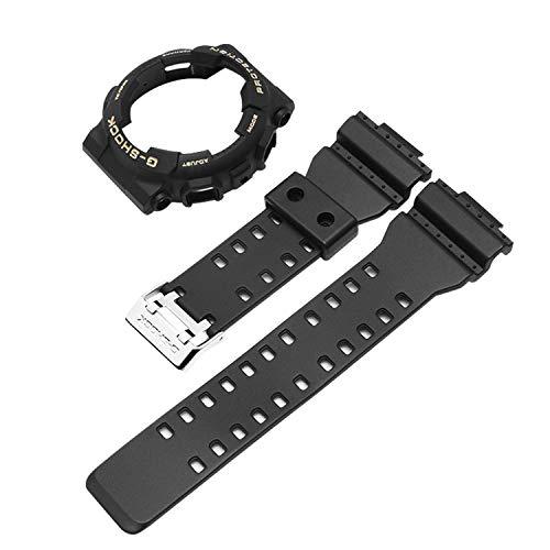 Vococal Cinturino per Casio, Cinturino per Casio G-Shock in Gomma Impermeabile Regolabile Compatibile per Gli Accessori G-Shock GA-110 GA100 GD-120 Casio G-Shock