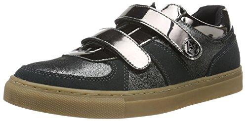 Armani Jeans 9250186A449, Zapatillas Mujer, Gris metálico 40820, 38 EU