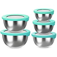 Set of 5 BLNKD Stainless Steel Mixing Bowls with Lid