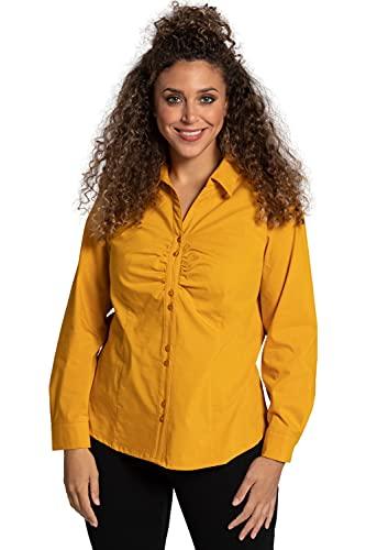 Ulla Popken Bluzka damska duże rozmiary, żółty (Senf 75002760), 48