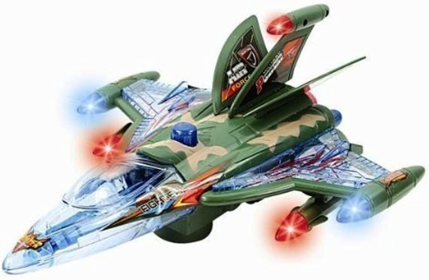 13 Toy Military Jet Fighter Plane with Lights and Sound by Master Toys