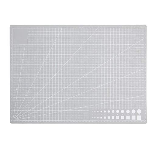 Bestgle Alfombrilla de doblebase Corte para Patchwork Estera de corte rotativo autorreparable doble cara costura de corte Patchwork alfombra,Cutting Mat a3 (300mm*450mm) gris