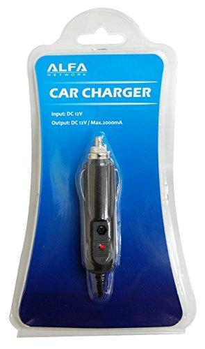 ACR-12 Alfa Network 12V (2A) DC in autolader/sigarettenaansteker/power kabel voor de Alfa R36