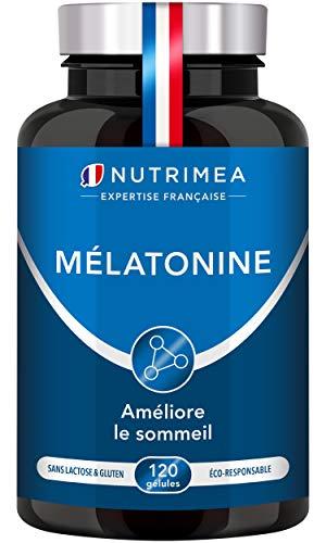 Mélatonine 100% Pure – Régulateur de l'horloge biologue – Sommeil réparateur – Vitamine du rêve – Limite le jetlag – Confère calme et sérénité – Fabrication française – Nutrimea