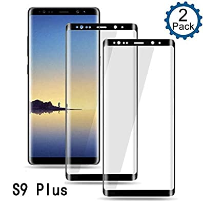 Galaxy S9 Plus Screen Protector,Full Coverage Tempered Glass [2 Pack][3D Curved][Anti-Scratch] [Anti-Fingerprint][High Definition] for Samsung Galaxy S9 Plus Tempered Glass Screen Protector