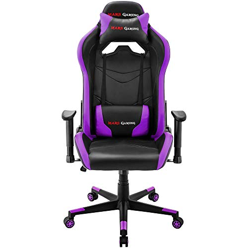 Mars Gaming MGC3BP Professional Gaming Chair Colorazione Black Purple, Finta Pelle, Porpora, XX-Large