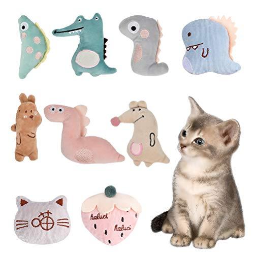 Set di 5 giocattoli per gatti di interazione senza marca forma carina e morbida a forma di erba gatta