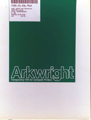 2, BOXES, of ARKWRIGHT, FILM, TRANSPARENCY, CLEAR, BONDED, for, COMPUTER PRINTERS, ARKWRIGHT, CLEAR, DATA/VIEW, TRANSPARENCY FILM, for a SHARP VISUAL PRESENTATION,+15B1.0+