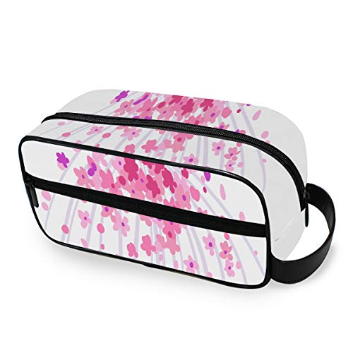 Art Sketching Beautiful Young Bride Pink Travel Makeup Bag with Zippers Toiletry Travel Bag Carry-on Travel Accessories Clear Travel Bags for Toiletries for Men and Women Travel Cosmetic Bag Toiletry