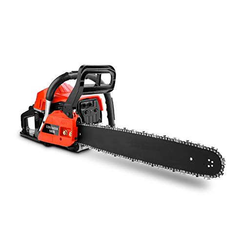 Anhoney 58CC 4HP Gas Chainsaw 20-Inch 2 Strokes Petrol Chain Saw with Tool Kit Rancher Garden Home Use (58CC_Red)