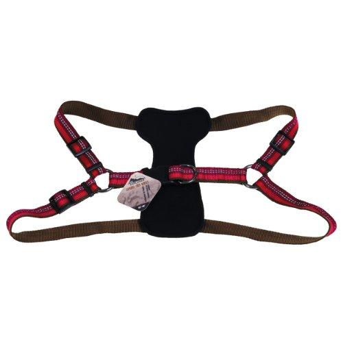 Coastal - K-9 Explorer - Reflective Adjustable Padded Dog Harness, Berry, 1' x 26'-38'