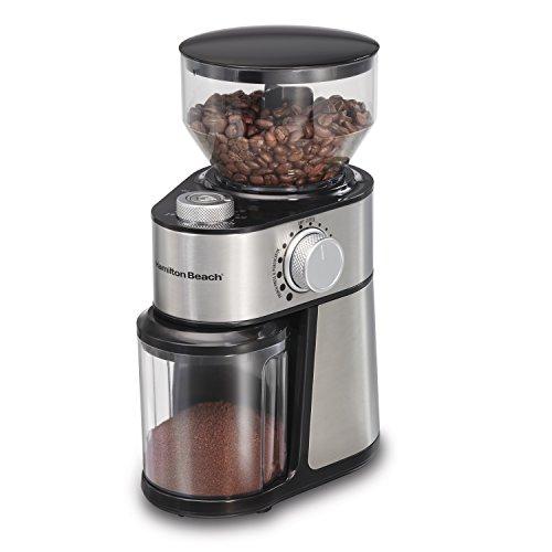 Hamilton Beach 80382 Burr 14 Cup Coffee Grinder, Grey