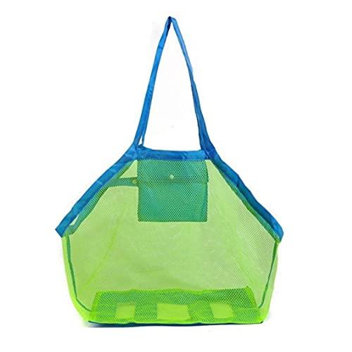 yqs Strandtasche Kinder Sand Weg Protable Mesh Bag Kinder Strand Spielzeug Kleidung Handtuch Tasche Baby Spielzeug Lagerung Süße Taschen Frauen Kosmetische Make-up-Taschen...